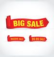 big sale set of signs vector image