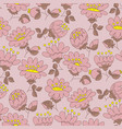 blossom hand drawn seamless pattern vector image vector image