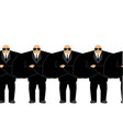 bodyguard black suit and hands-free security man vector image vector image