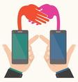 Business handshakeSmartphone concept vector image