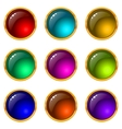 buttons with gems set round vector image vector image