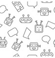 chat bot and bubble seamless pattern vector image vector image