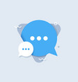 chat speech flat icon vector image