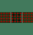 christmas and new years red-green plaid tartan vector image