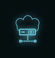 cloud computing neon icon web development icon vector image