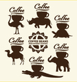 Coffee beans from different countries vector image