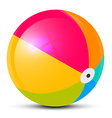 Colorful Beach Ball Isolated on White Background vector image vector image