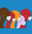 coronavirus world pandemic people in medical mask vector image