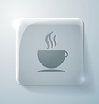 Cup of hot drink Glass square icon vector image