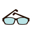 fashion lens glasses vector image vector image