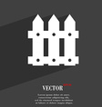 Fence icon symbol Flat modern web design with long vector image