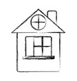 figure house with roof and window vector image vector image