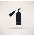 Fire extinguisher icon black on the light vector image