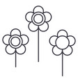 flowers line icon sign vector image vector image