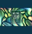 fluid liquid background dark cover vector image vector image