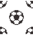 football seamless pattern tile soccerball pixel vector image