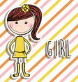 girl design vector image vector image