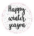 happy winter season christmas greeting card vector image vector image