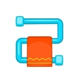 Heated towel rail with orange towel icon vector image vector image