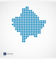 kosovo map and flag icon vector image
