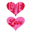 mod pink red love valentine glitter hearts vector image