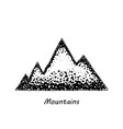 mountains painted dots eps10 icon vector image