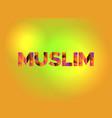 muslim theme word art vector image