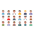 office business male people avatar character flat vector image vector image