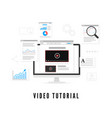 online education tutorial and study course vector image