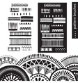 Pattern brushes vector image vector image
