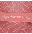 Pink Ribbon with Valentines Day Greeting vector image