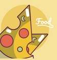 pizza fast food concept cartoon vector image vector image