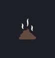 Poop computer symbol vector image