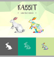 rabbit animals low poly logo icon symbol vector image