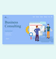 researching technology business consulting vector image