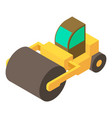 road roller icon isometric 3d style vector image