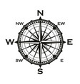 rose of winds icon navigator compass vector image vector image