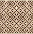 seamless - beige brown tile pattern vector image vector image