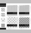 Set of abstract seamless patterns 4 vector image