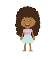 silhouette afro girl with skirt vector image vector image