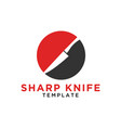 simple sharp knife on a circle logo design vector image vector image
