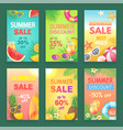 summer discount and offer vector image vector image