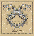 taurus or bull zodiac sign in frame on texture vector image vector image