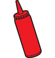 tomato ketchup bottle icon vector image vector image