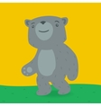 Toy bear walking on the grass vector image