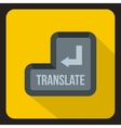 Translate button icon flat style vector image vector image