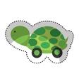 turtle baby cute icon vector image vector image
