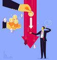 unfair business sharing vector image vector image