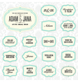 Vintage frame stickers vector image vector image