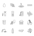 Water Icons Line vector image vector image